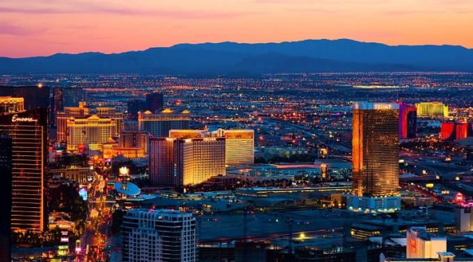 Las Vegas At Sunset